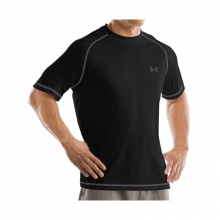 Mens UA Catalyst Tee - Closeout Black/Graphite Medium