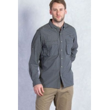 Men's Air Strip Micro Plaid Long Sleeve Shirt by ExOfficio in Columbus Oh