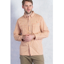 Men's Air Strip Micro Plaid Long Sleeve Shirt by ExOfficio in Paramus Nj