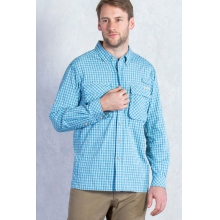 Men's Air Strip Micro Plaid Long Sleeve Shirt by ExOfficio in Park City Ut