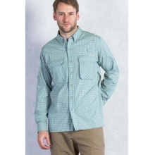 Air Strip Micro Plaid Long Sleeve Shirt by ExOfficio in Kirkwood Mo