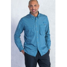 Men's Air Strip Micro Plaid Long Sleeve Shirt by ExOfficio in Fort Collins Co