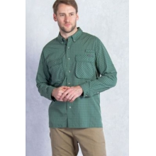 Air Strip Micro Plaid Long Sleeve Shirt by ExOfficio