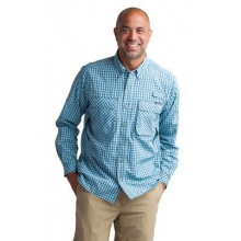 Men's Air Strip Micro Plaid Long Sleeve Shirt by ExOfficio in Peninsula Oh