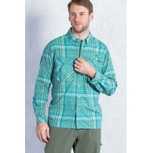 Men's Air Strip Macro Plaid Long Sleeve Shirt by ExOfficio in Fort Collins Co