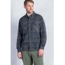Men's Air Strip Macro Plaid Long Sleeve Shirt by ExOfficio in Edwards Co