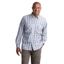 Men's Air Strip Macro Plaid Long Sleeve Shirt by ExOfficio in East Lansing Mi