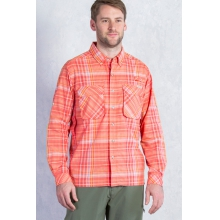 Men's Air Strip Macro Plaid Long Sleeve Shirt by ExOfficio in Ramsey Nj