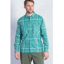 Men's Air Strip Macro Plaid Long Sleeve Shirt by ExOfficio in Colorado Springs Co