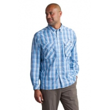 Men's Air Strip Macro Plaid Long Sleeve Shirt by ExOfficio in Atlanta Ga