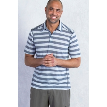Men's Sol Cool Jacquard Strp Polo by ExOfficio in Succasunna Nj