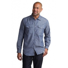 Men's Sol Cool Chambray Long Sleeve Shirt by ExOfficio