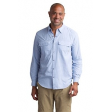 Men's BugsAway Halo Check Long Sleeve Shirt by ExOfficio in Fort Worth Tx