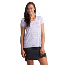 Women's Wanderlux V-Neck Short Sleeve Shirt by ExOfficio in Portland Me