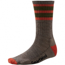 Men's Striped Hike Light Crew Socks by Smartwool