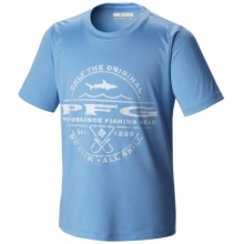 Kid's PFG Sportsman Shark Graphic Tee by Columbia in Clinton Township Mi