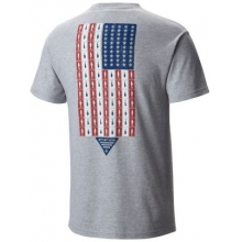 Men's PFG Americana Fish Flag SS Tee