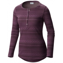 Women's Aspen Lodge Jacquard Henley Long Sleeve Shirt by Columbia in Coeur Dalene Id
