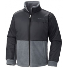 Boy's Steens Mountain Overlay Fleece Jacket by Columbia in Chicago Il