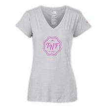 Women's S/S TNF Logo V-Neck Tri-Blend Tee