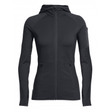 Women's Atom LS Zip Hood by Icebreaker in Parker Co