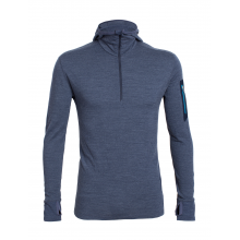 Men's Compass LS Half Zip Hood by Icebreaker
