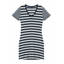 Women's Tech Lite SS V Dress Stripe by Icebreaker