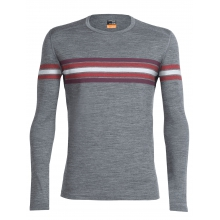 Men's Oasis LS Crewe Coronet Stripe by Icebreaker