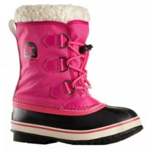 Yoot Pact Nylon Boot Girls', Curry/Red Dahlia, 2 by Sorel