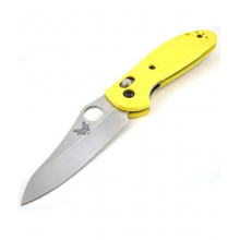 - Mini Griptillian Plain Edge Yellow by Benchmade