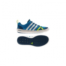 Mens Climacool Boat Lace Shoe - Sale Solar Blue/Chalk/Solar Slime by Adidas