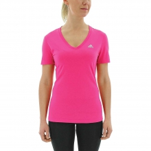 Women's Ultimate SS V-Neck Top by Adidas