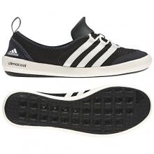 - Climacool Boat Sleek - 10 - Black/Chalk White/Dark Grey by Adidas