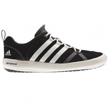 Climacool Boat Lace Water Shoe Men's, Black/Chalk White/Silver Metallic, 10.5 by Adidas