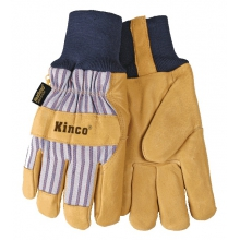 Gloves - Knit Cuff Lined Pig Glove - X-Large - Tan by Kinco