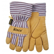Gloves - Open Cuff Lined Pig Glove - X-Large - Tan by Kinco