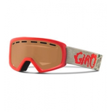 Rev Children's Ski Goggles - Unisex - Red Glowing Camo/Amber Rose by Giro