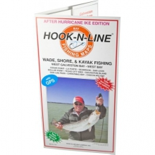 Map F103 Wade Fishing Map of West Galveston Bay (With GPS) by Hook-n-line