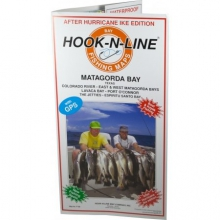 Map F108 Matagorda Bay Fishing Map (With GPS) by Hook-n-line