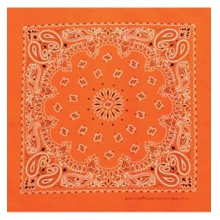 Neon Paisley Bandanas - Neon Orange by Carolina Manufacturing