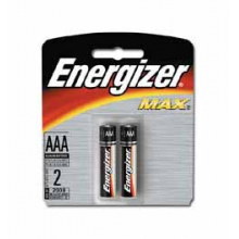 Energizer Max AAA Batteries 2 pk by Eveready