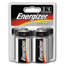Energizer Max D Batteries 4 pk by Eveready