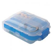 Tri-fold Pill and Storage Box - Blue by Talus