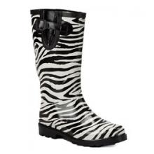 Women's Puddletons Rubber Boot - Zebra In Size: 6 by Ranger