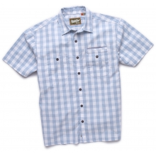 Aransas Short Sleeve Shirt Mens - Palaka Plaid/Misty Blue M by Howler Brothers