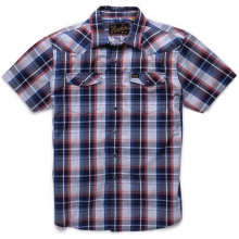 H Bar B Snapshirt Mens - Cosmic Blue Plaid S by Howler Brothers