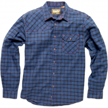 Harkers Flannel Shirt Mens - Box Plaid: Deep Ocean LG by Howler Brothers