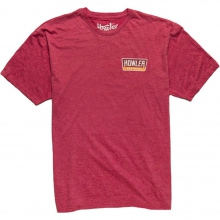 Hi Watt T-Shirt Mens - Faded Cherry Heather MD by Howler Brothers