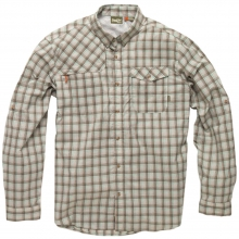 Matagorda Tech Shirt Mens - Sadler Plaid: Blueline MD by Howler Brothers