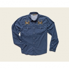 Mens Gaucho Snapshirt - Closeout Midnight Blue: Crab by Howler Brothers